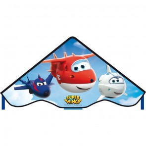 Kinderdrachen Einleiner Simple Flyer SUPER WINGS 85 cm Flugzeug HQ Kites Flugdrachen