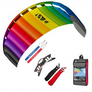 HQ Symphony Beach III 2.2 Rainbow Bundle Lenkmatte Allround Lenkdrachen R2F Kite Hauptbild